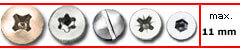 schilder befestigung schrauben abdeckkappe 16 mm zur schilderbefestigung. Black Bedroom Furniture Sets. Home Design Ideas