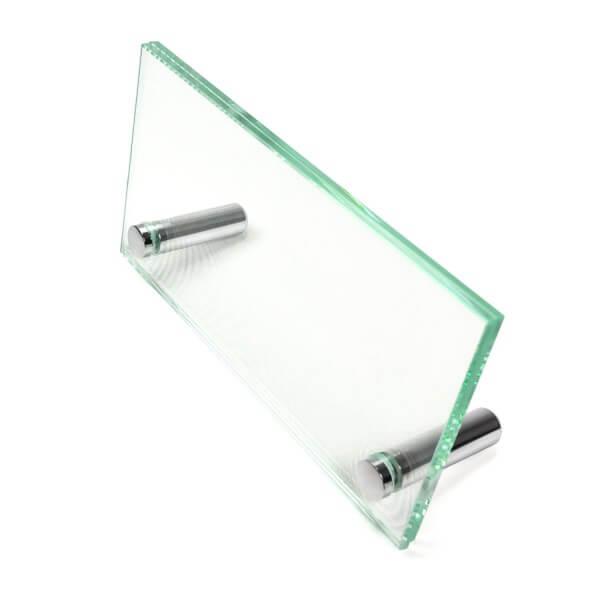 Namensschild aus Glas