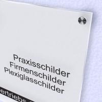 Schild Bedruckt Acrylglas Satiniert
