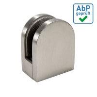 Plattenhalter halbrund 50x40mm Edelstahl Flach mit Sicherung