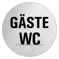 Piktogramm Gäste WC 100mm Rund
