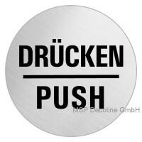 Piktogramm Push 100mm Rund