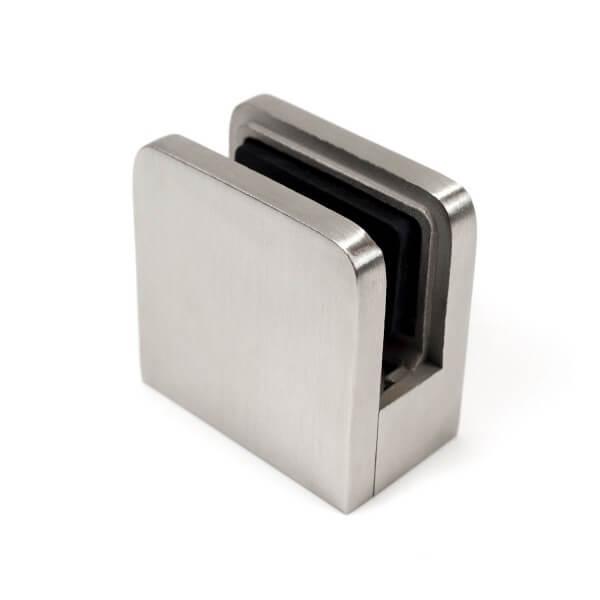 Klemmhalter Viereck 45x45mm V2A poliert Flach
