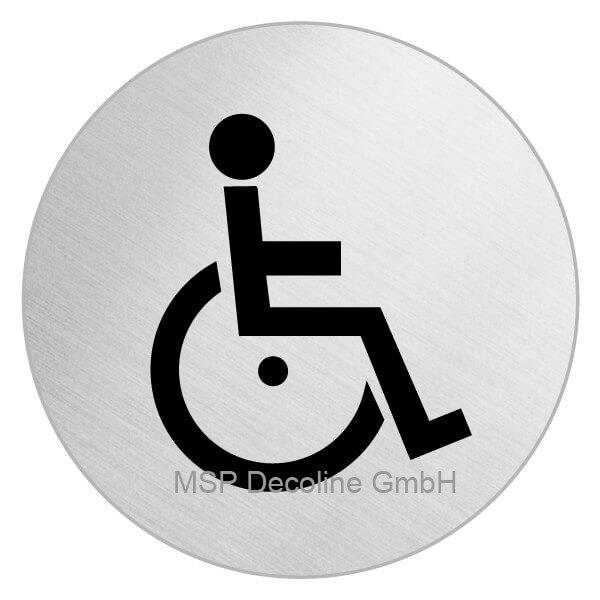 Klebeschild für Tür Behinderten WC