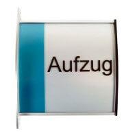 Aluminium Fahnenschild Perfect Line in 148 x 150 mm
