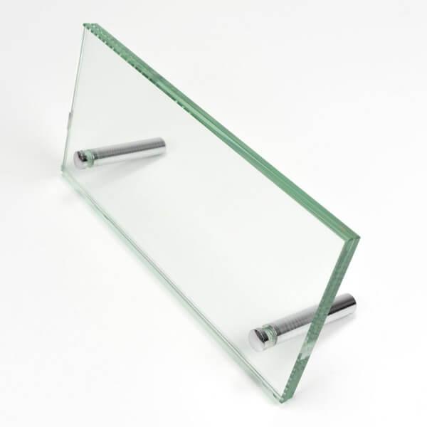 Tisch Aufsteller aus Glas