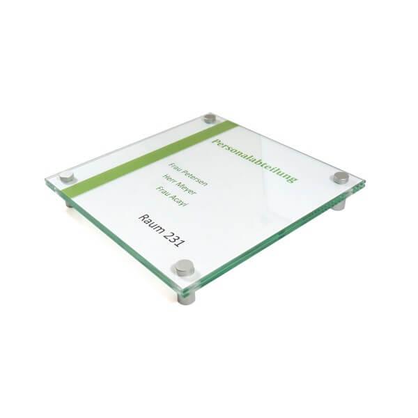Glas Türschild
