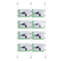 Immobilien Aushang mit 8 Acrylhüllen
