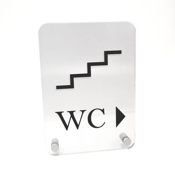 Acrylglas Büroschild DIN A5 mit abgerundeten Ecken inkl. 2 Befestigungen