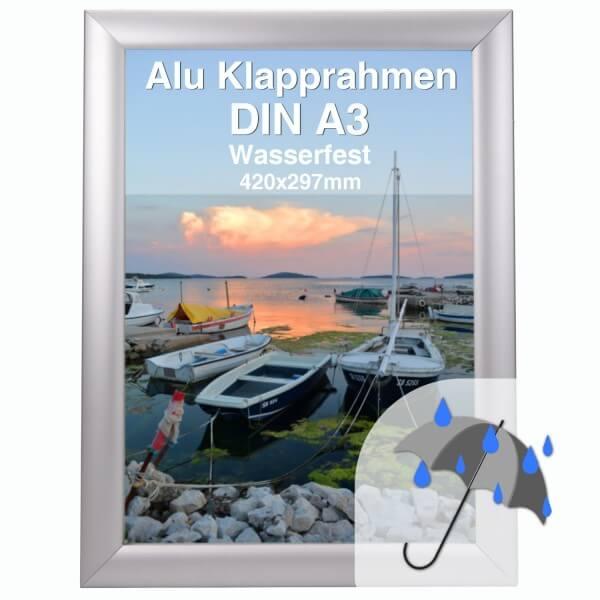 Wasserfester Rahmen DIN A3 aus Alu