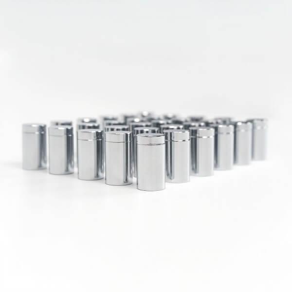 Alu Abstandshalter Schraubbar Chrom Glanz 13 x 20 mm im 100er Pack