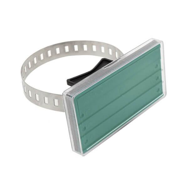 Rohrkennzeichnung Grün 105 x 55 mm