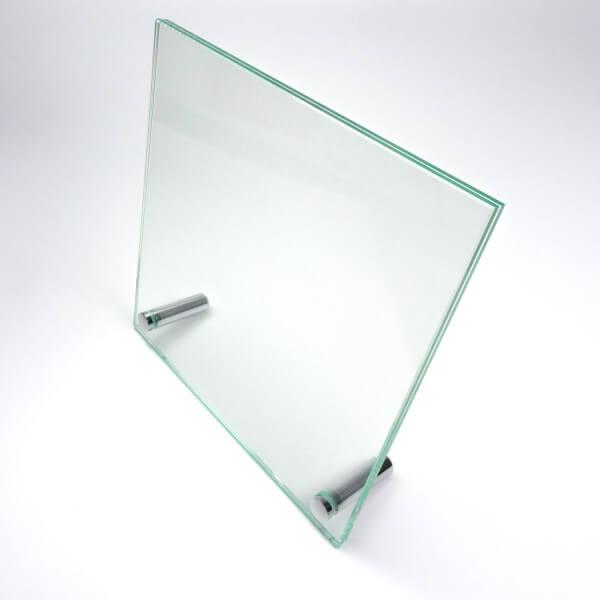 Tischaufsteller Echtglas 180 x 180 mm
