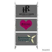 Stangen System Alu Satiniert Set 3 mit 150 cm Länge für Schilder