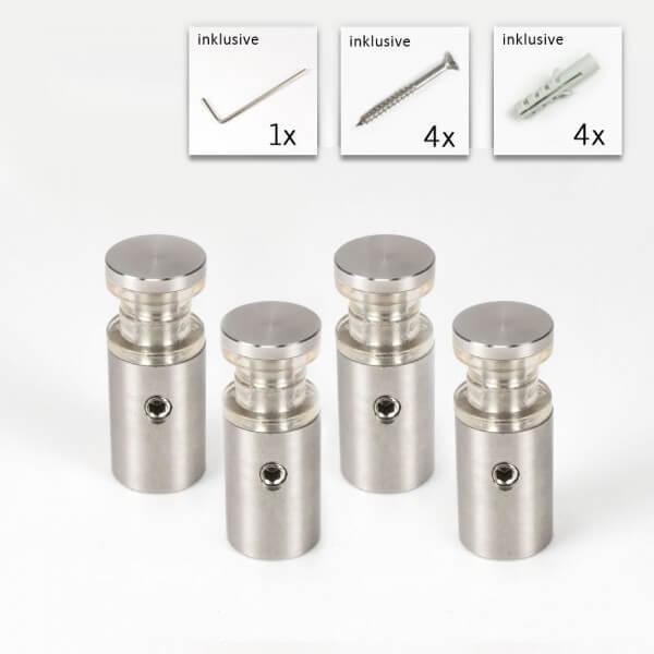 Doppelglashalter 13x20mm PS2x4mm 4er Set