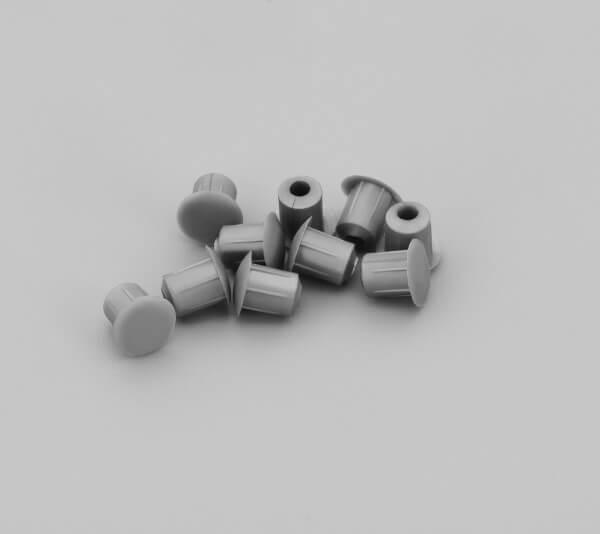 Bohrloch Abdeckkappe 5mm Silber Grau