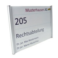 Aluminium Türschild Elegance Line 210 x 148 mm - DIN A5