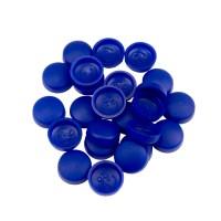 Schrauben Abdeckkappe 13 mm Blau - 25er Pack