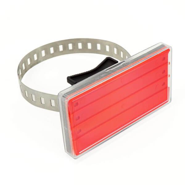 Rohrbeschriftung für 20-80 mm Durchmesser in Rot
