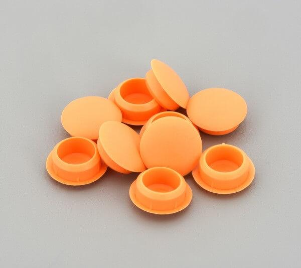Bohrloch Abdeckkappe 10mm Orange