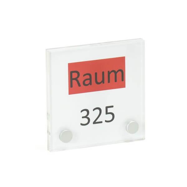 Acrylglas Türschild 100x100 Zimmer Nummer