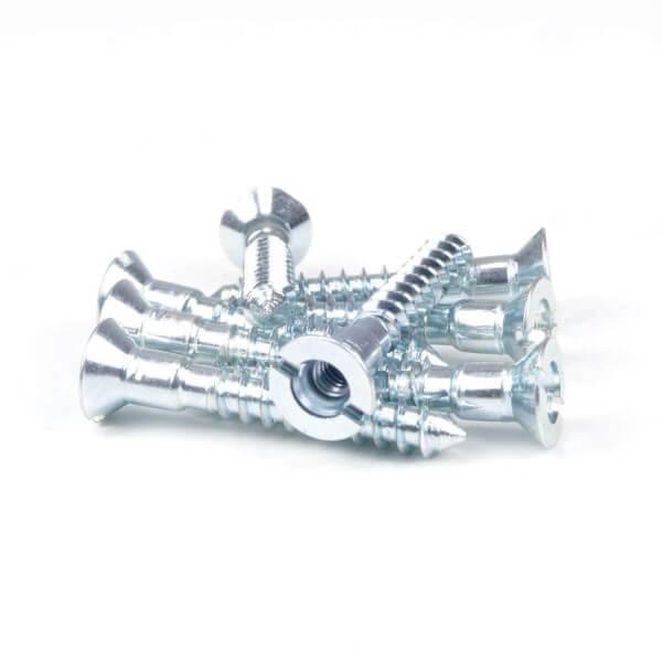 Schraube verzinkt 4,50 x 30 mm mit Innengewinde für Zierschraube