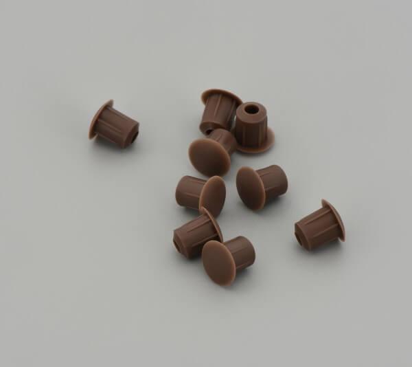 Bohrloch Abdeckkappe 5mm Dunkel Braun
