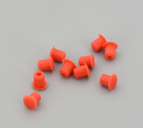 Bohrloch Abdeckkappe 5mm Rot