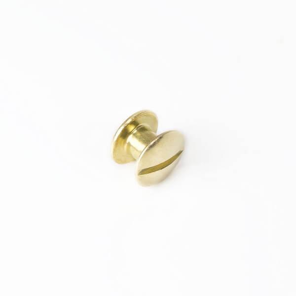 Buchnieten gold, 5 x 10 mm für 6mm Stärke
