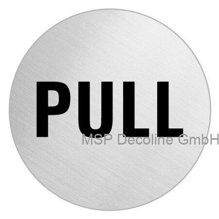 Piktogramm Pull 75mm Rund