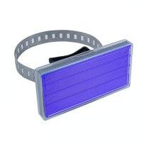 Rohrbeschriftung in Blau 105 x 55 mm für Rohre und Pfähle
