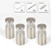 Glasplattenhalter 4er Set für 2 x 5 mm Platten