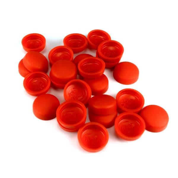 Rote Schrauben Kappen