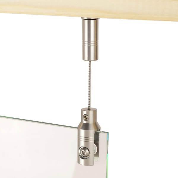 Seil Abhängesystem aus Edelstahl, Plattenstärke 3-10 mm