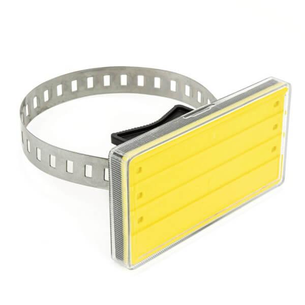Rohrbeschriftung Gelb für 20 - 80 mm Durchmesser