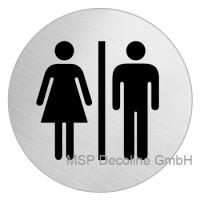Piktogramm Mann und Frau 75mm Rund