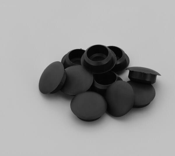 Bohrloch Abdeckkappe 10mm Schwarz