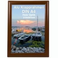 Alu Klapprahmen Holz Design DIN A4 Opti Frame®