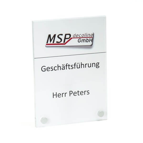 PLEXIGLAS® Türschild 100 x 150 mm inkl. 2 Befestigungen