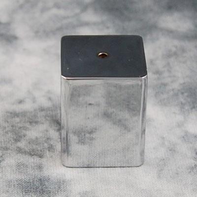 4-Eck Deckenhalter, poliert, verchromt