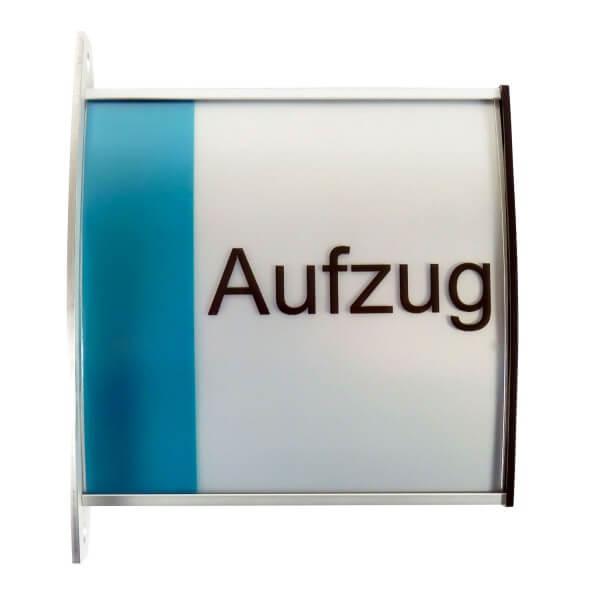 Aluminium Fahnenschild DIN A6