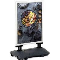 WindPro® Kundenstopper DIN A0 Wetterfest silber