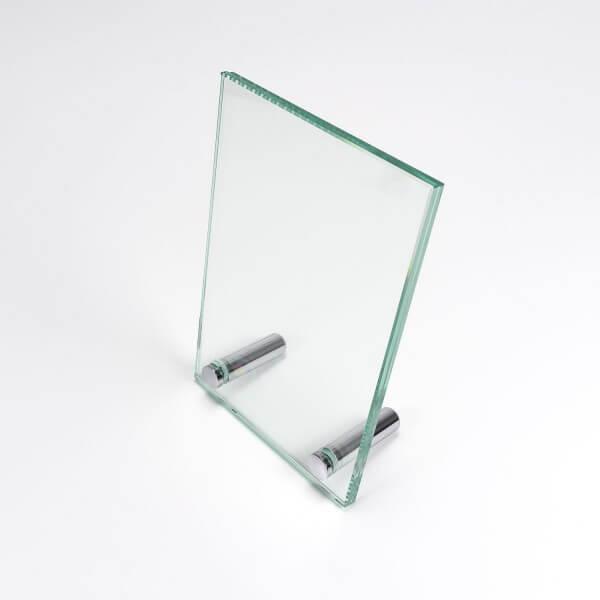 Tischaufsteller Echtglas 100 x 150 mm
