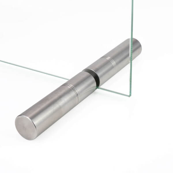 Edelstahl Aufsteller 18 x 150 mm für Spuckschutz