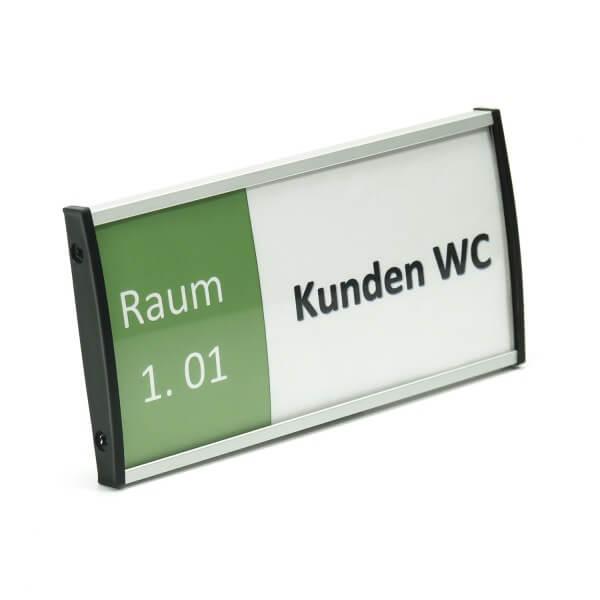 Aluminium Türschild 74 x 150 mm modern