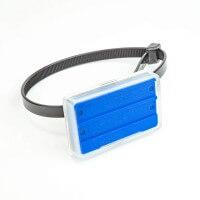Rohrkennzeichnung Blau in 55 x 36 mm