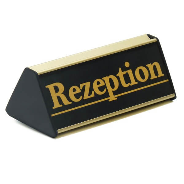 Aufsteller für Rezeption