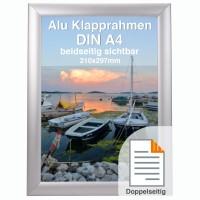 Doppelseitiger Rahmen aus Alu DIN A4