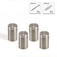 V2A schraubbare Abstandshalter Set 15 mm x 20 mm