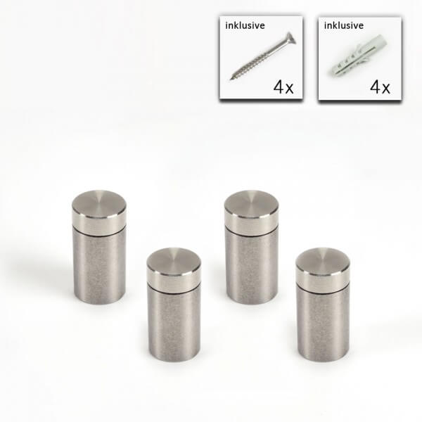 V2A Schraubbarer Abstandshalter im Set 10 x 15 mm